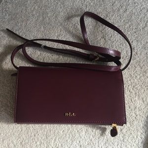 Ralph Lauren Burgundy Crossbody Wallet
